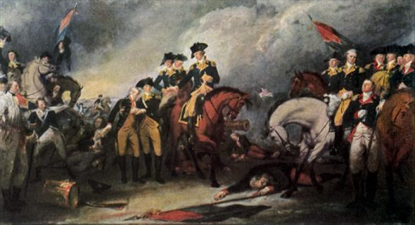 Surrender of the Hessian Troops at Trenton, 1776; painted 1786; oil on canvas, Yale University Art Gallery.