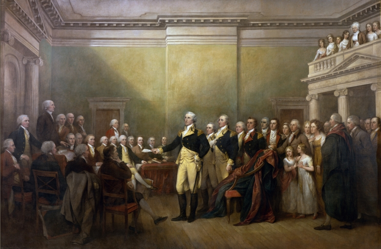 John Trumbull, Oil on canvas, 12' x 18' 1824; placed 1826 Rotunda U.S. Capitol.