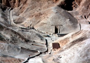 KV62 in the Valley of the Kings. Via Wikipedia.